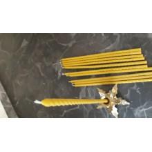 Свеча восковая витая ручной работы Воск 100% (33см)